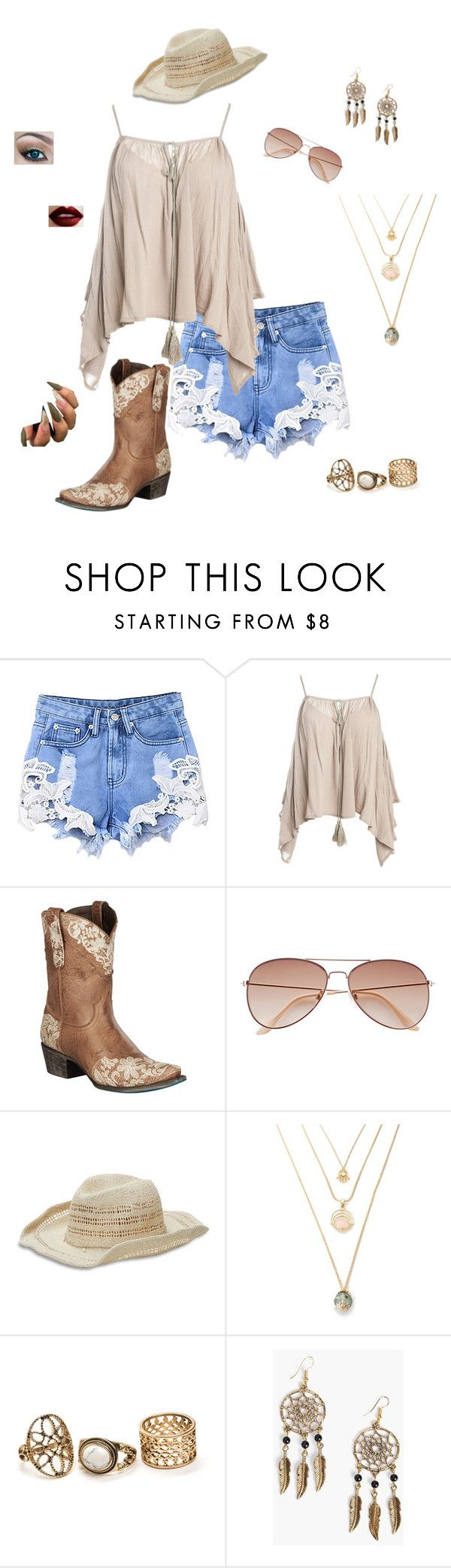 """Country Music Festival"" by fashiongirl329 on Polyvore featuring Sans Souci, H&M, Lucky Brand, Boohoo and country"