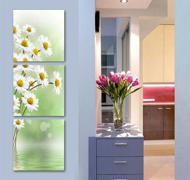 3 peça livraison gratuite Hot vendre mur moderne peinture décorative accueil Art photo peinture sur toile imprime les fleurs sauvages d'encre d'encre
