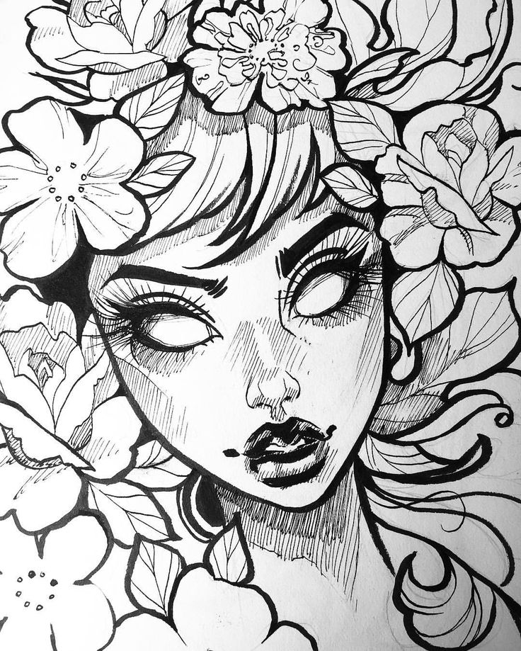 A quick sketch from a few weeks ago. I kind of miss Inktober but it's nice to take a break from ink. It's given me time to think about the next direction I want to take with my art & I'm pretty excited about it ☺️ Thank you all for your kindness  I don't always have time to respond to each one of you but I appreciate you nonetheless ✨ #art #artist #sketch #inktober #ink #florals #instaart #artcollective #sketchbook #draw #occult #witch #inktober2016 #tb #drawing