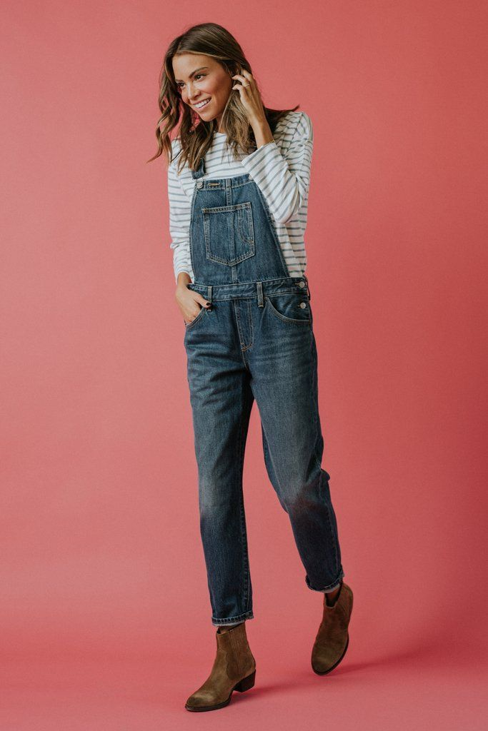 DETAILS: These classic overalls feature a cuffed hem for an on-trend, perfect fit. 98% Cotton, 2% Elastane Stretch denim Adjustable...