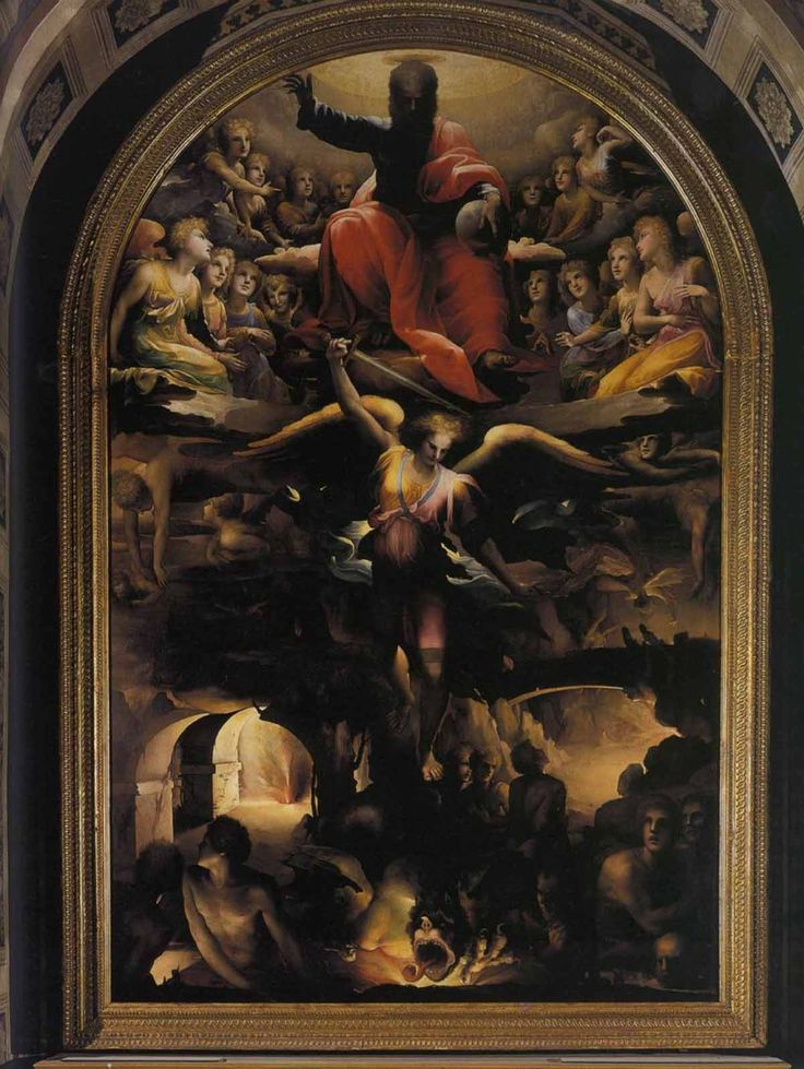 Доменико Беккафуми . «Ад» 1526-1530  Дерево. Сиена. Сан Николо аль Кармине.