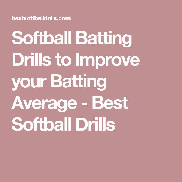 Softball Batting Drills to Improve your Batting Average - Best Softball Drills