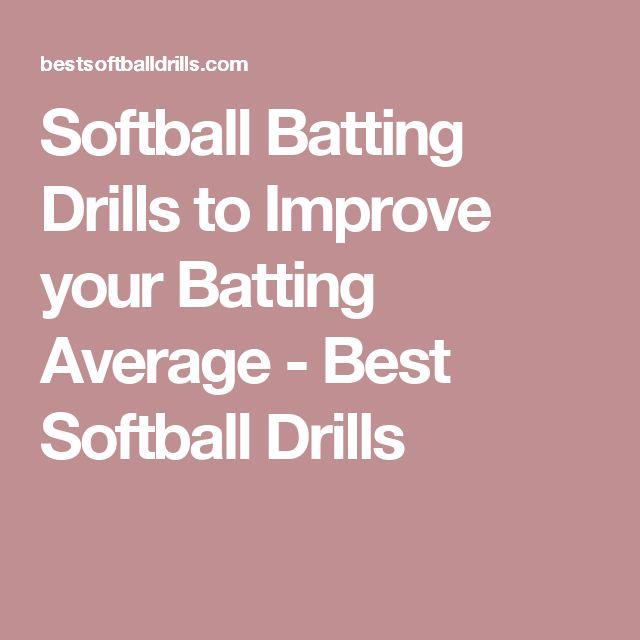 Softball Batting Drills to Improve your Batting Average - Best Softball Drills