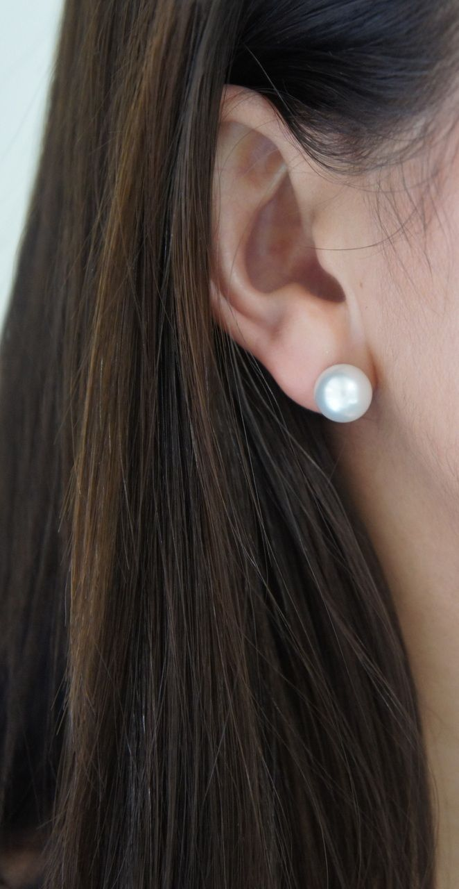 Nicholas Haywood Jewellery Concierge - South Sea Pearl Stud Earrings, $750.00 (http://nhjc.mybigcommerce.com/south-sea-pearl-stud-earrings/)
