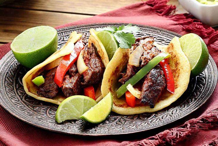 makkelijk paleo recept voor biefstuk fajitas gemaakt met paleo tortilla