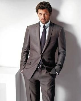 Versace McDreamy: Grey Suits, Grey Anatomy,  Suits Of Clothing, 50 Shades, Eyes Candy, Men'S Fashion, Patrick'S Dempsey, Patrickdempsey, Men'S Ties