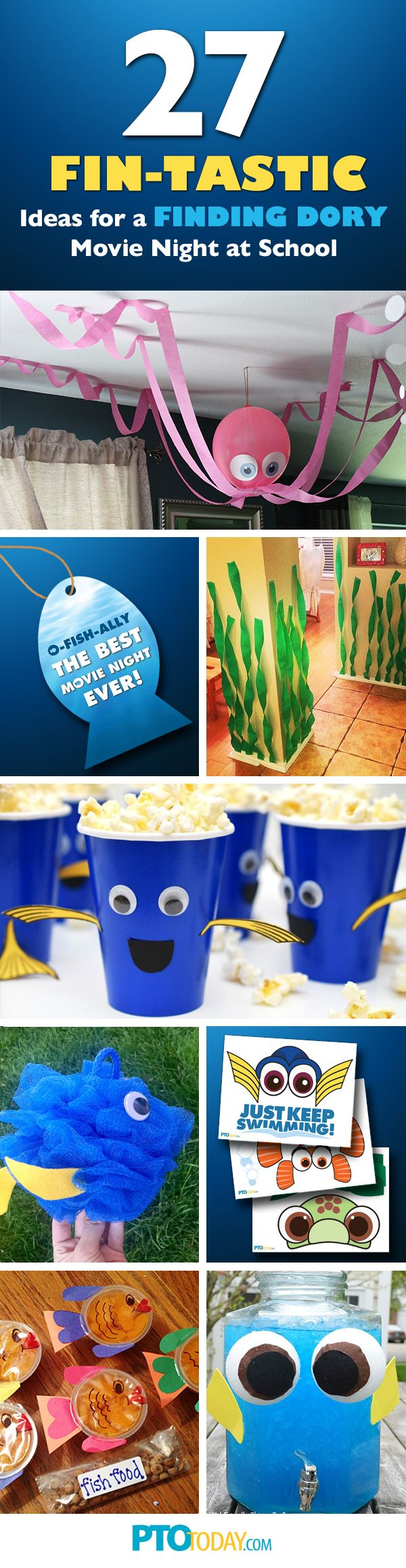 Get tons of ideas for doing a Family Movie Night based on the beloved new movie, Finding Dory!
