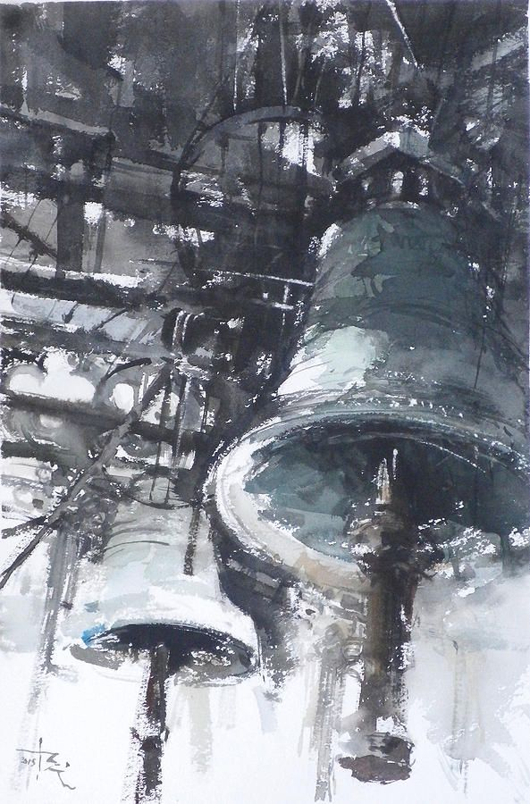Bells In Trogir Painting by Tony Belobrajdic