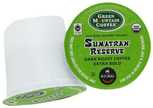 Green Mountain Coffee K-Cup Portion Pack for Keurig K-Cup Brewers, Sumatra Reserve (Pack of 96) - http://hotcoffeepods.com/green-mountain-coffee-k-cup-portion-pack-for-keurig-k-cup-brewers-sumatra-reserve-pack-of-96/