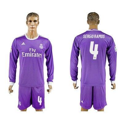Real Madrid 16-17 Sergio Ramos 4 Udebane Trøje Langærmet.  http://www.fodboldsports.com/real-madrid-16-17-sergio-ramos-4-udebane-troje-langermet.  #fodboldtrøjer