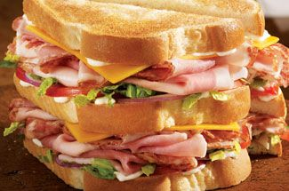 Classic Club Sandwich made with new Eckrich Bacon Lovers Deli Meats