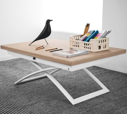 Magic-J adjustable Coffee table 7 different heights- turns into a dining table for 6!