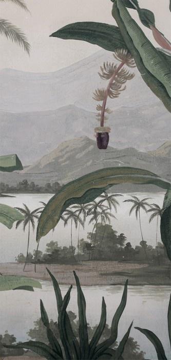 Le décor Mandalay dans sa version fanée et patinée. Détail  www.ananbo.com