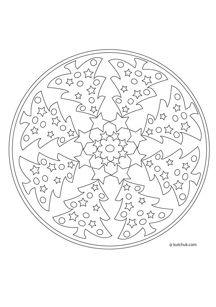 44 best mandalas de no l images on pinterest adult - Mandala de noel a imprimer ...