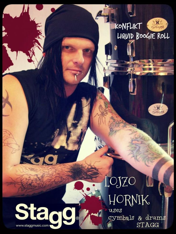 Lojzo Hornik from Konflikt band