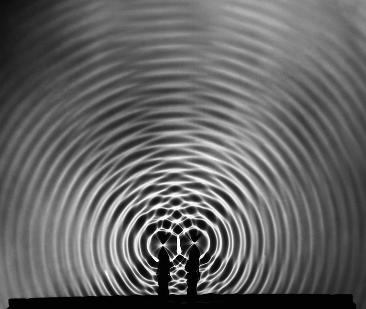 "This image is called ""Circular Wave Systems"" and taken by Berenice Abbott circa 1960. The photograph was taken for an American physics textbook in the 1960s and the amazing picture certainly got a lot of students at the time questioning a lot about physics and developing life long interests in the study of it. She was able to make documentary type images but able to do them in an incredibly artistic way. The mood is unbelievable because the image shows phenomena."