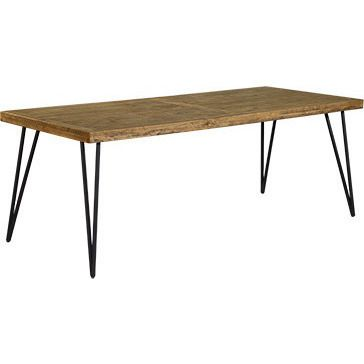 Barnhouse Iron & Timber Rustic Dining Table 2.2m | Buy Dining Tables