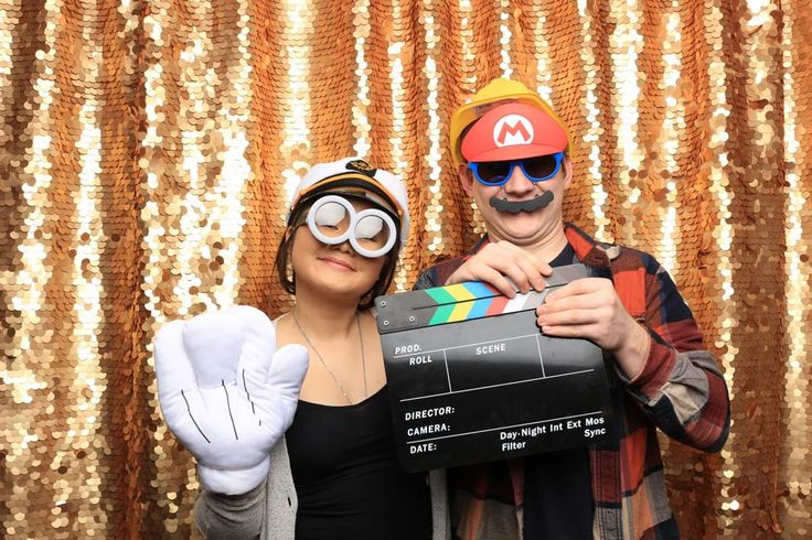 If you want to make a statement with our Vancouver photo booth, choosing a Gold Sequins backdrop would be nothing short of it.  Book us to be your next photo booth rental in Vancouver!