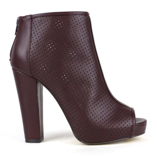 Mark-Maddux-Ankle-booties-high-heels-US-shoe-size-Womens-7