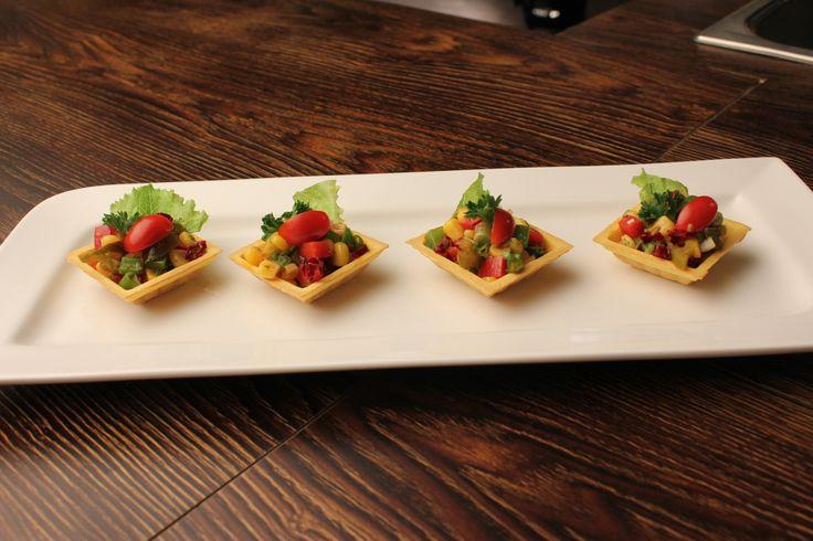 #Corn & Capsicum #Toastadas #recipe http://www.foodfood.com/recipes/corn-capsicum-tostadas/