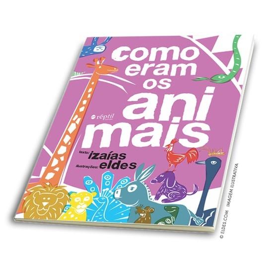 © Eldes.com - BOOK | Como eram os animais. Children book cover illustration.