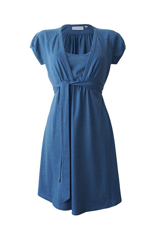 Love Milk | Charlotte Nursing Dress - Denim Blue | Nursing Dresses | Nursing Clothes | Nursing Wear | Breastfeeding Dresses | Breastfeeding Clothes