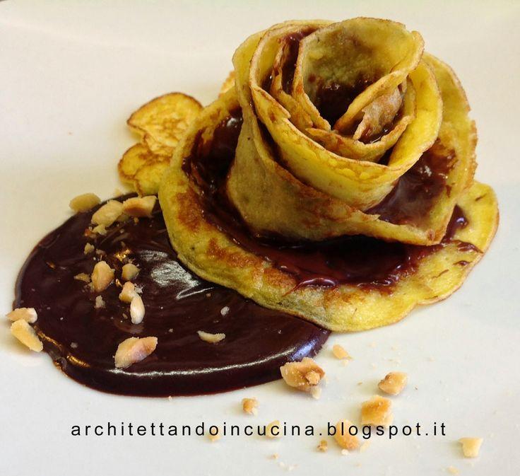 architettando in cucina: Rose di crêpes - tutorial