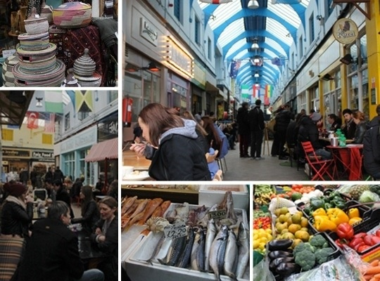 Brixton Village Interesting mix of traditional and non-traditional use of market space (great food venue!)