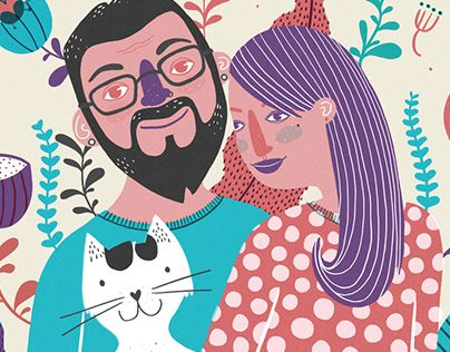 "Check out new work on my @Behance portfolio: ""Ilustração Casal"" http://on.be.net/1MeZUtb"