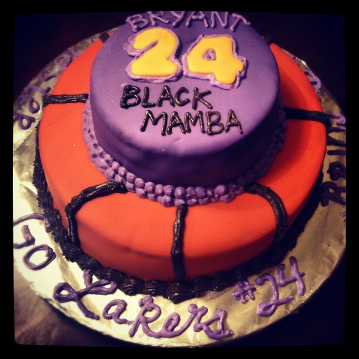 39 best Lakers cakes images on Pinterest Birthday cakes
