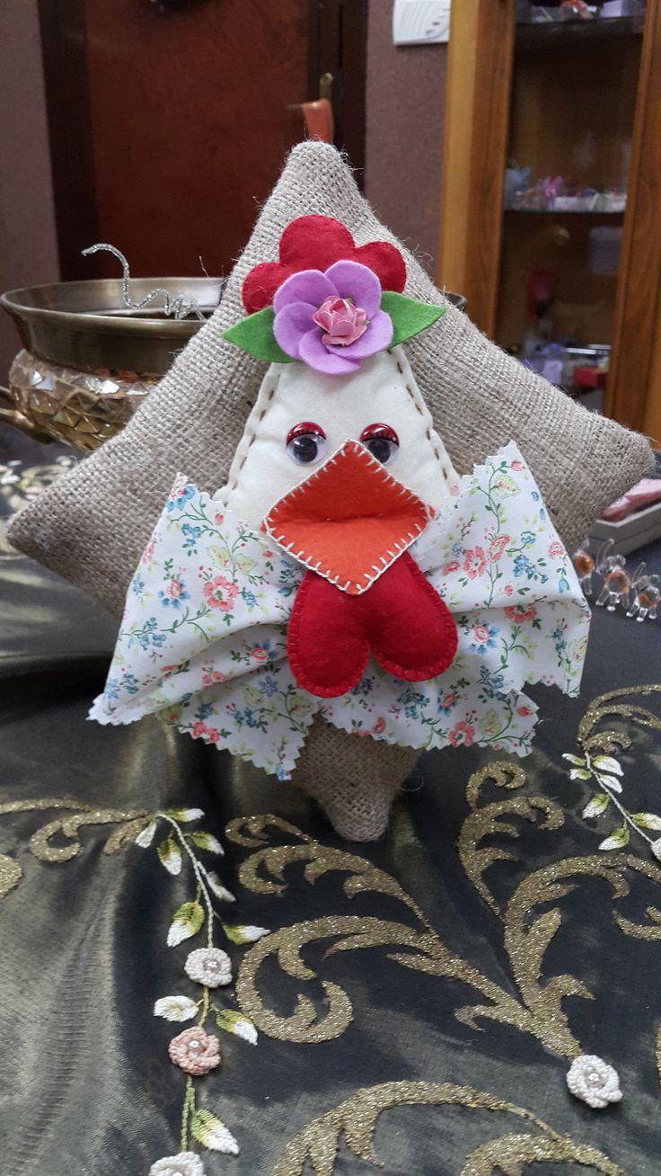 kece figürlü lavanta kesesi - handmade - embroidery - el işi