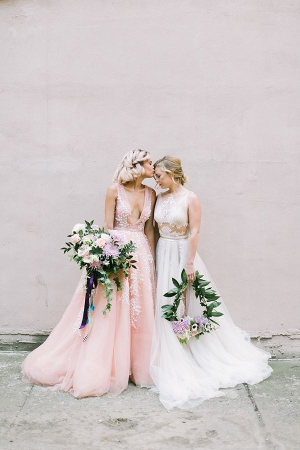 Brightly whimsical wedding shoot | Photo by Alea Lovely
