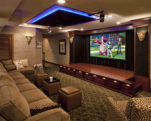 Home theatre for Home theater basement design ideas