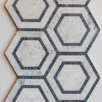 YA Combined Hexagon Carrara Grey