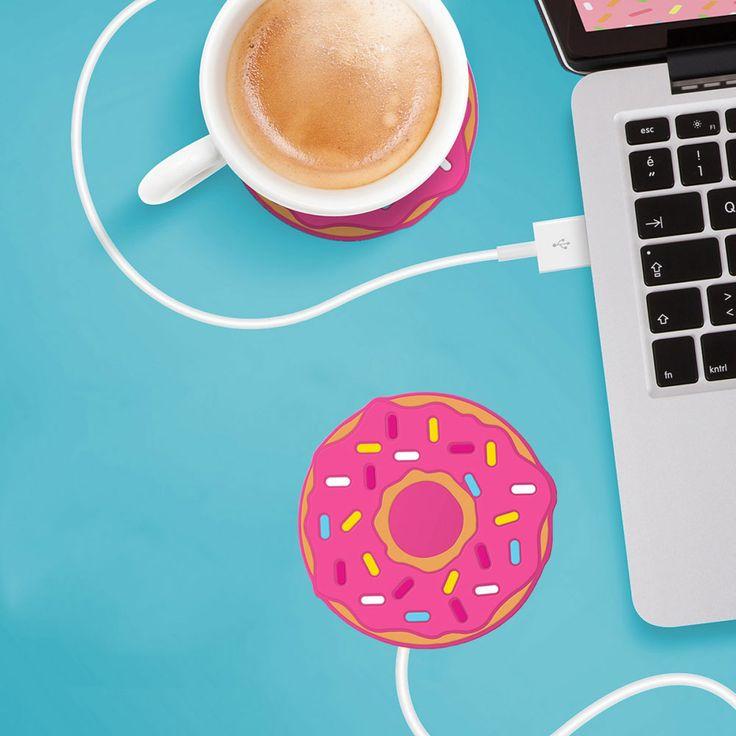 Pink Donut: Scaldatazza USB a forma di Ciambella Rosa