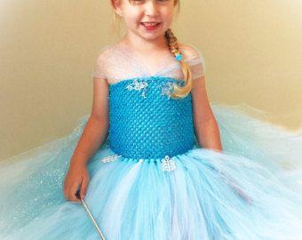 Flocon de neige princesse Tutu Dress ~ inspiré par Elsa, congelée