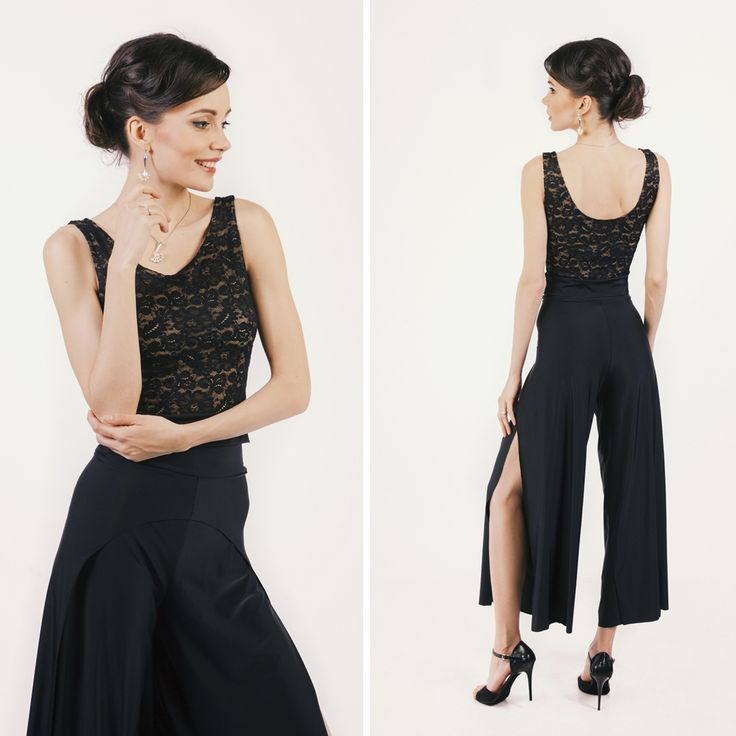 Pants with open sides #tangopants #black #elegant #style #collection #fashion