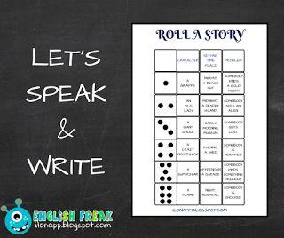 English Freak | Blog o nauczaniu języków obcych: LET'S SPEAK AND WRITE - ROLL A STORY (PART 2)