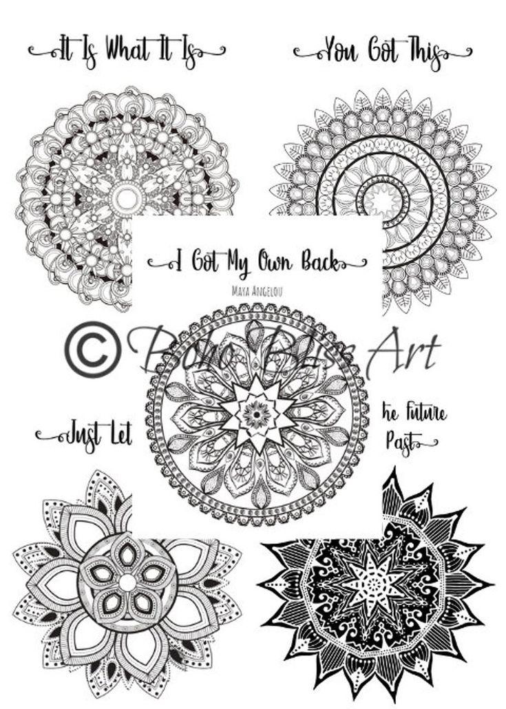 5 Empowering Quote & Mandala Coloring Sheets | DIY Mandala ...