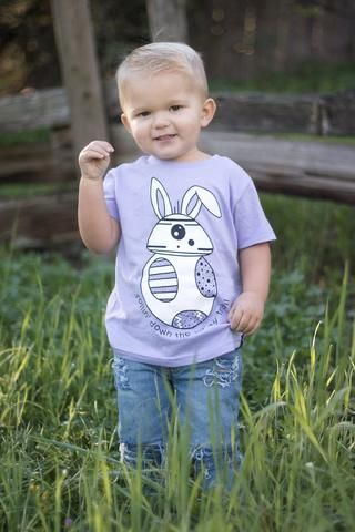 BUNNY BB8 LAVENDER TEE. The perfect #easter shirt for your biggest #starwars fans! #bb8 // Shop now at neverlancrew.com