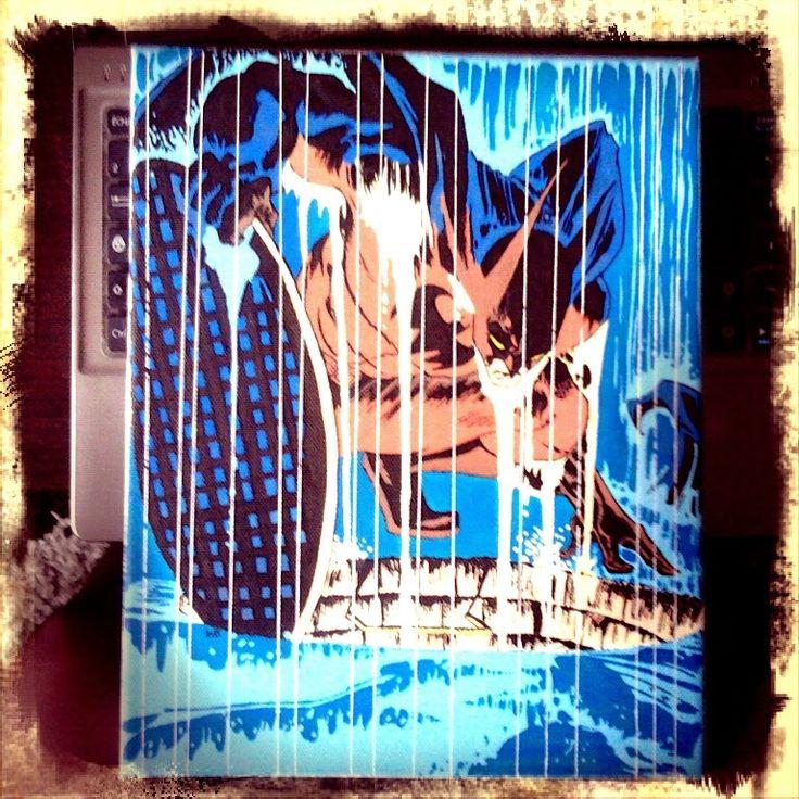 Dessin au posca sur toile, réalisé pour l'anniversaire de mon amoureux, by Akiko