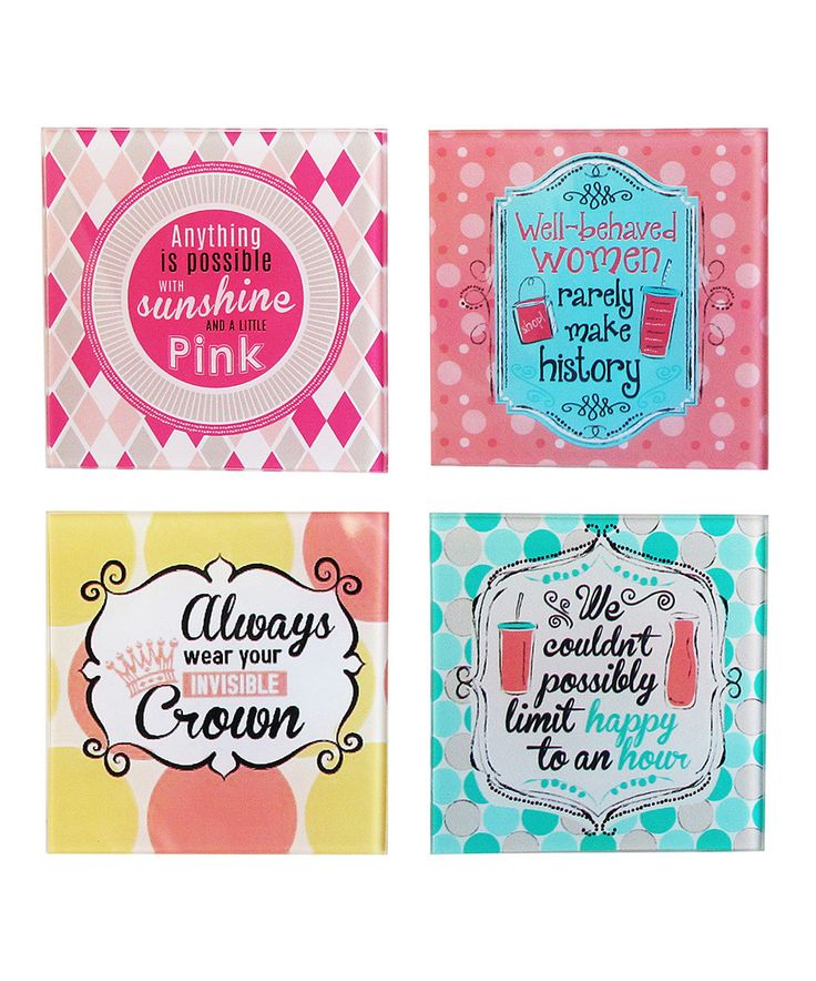 This 'Invisible Crown' Sassy Coasters - Set of Four by Jay Import is perfect! #zulilyfinds