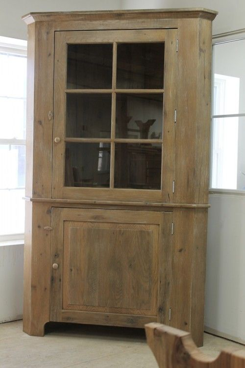 Farmhouse Solid Oak Corner Cabinet