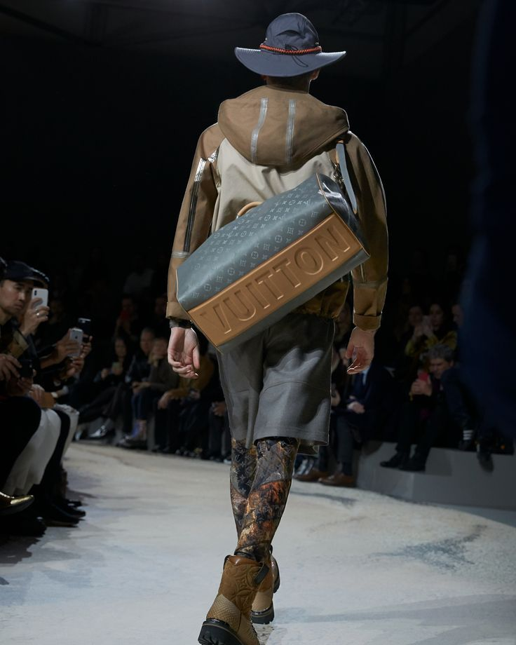 16ea73589d53 A bag from the Louis Vuitton Fall-Winter 2018 Fashion Show by Kim Jones.  See all the looks now at louisvuitton.com.
