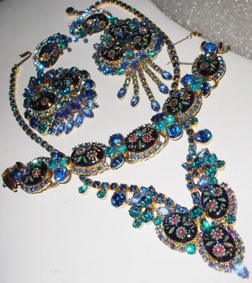 DeLissa & Elster vintage rhinestone jewelry