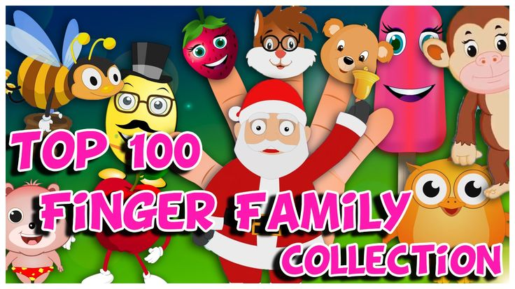 Top 100 Finger Family Collection | Back to Back Finger Family Rhymes | C...