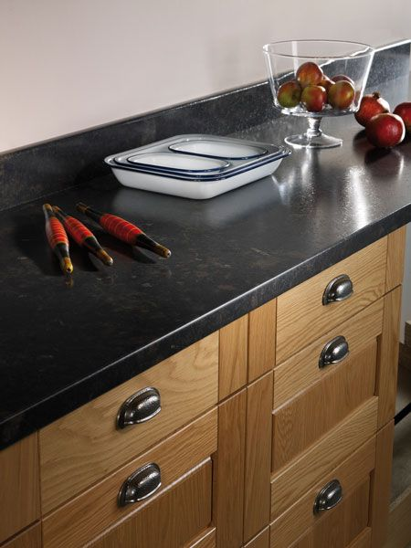 Black Fossilstone Prima Formica Laminated Worktop #homeinterior #black