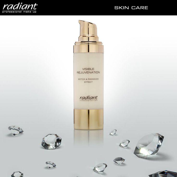Visible Rejuvenation Botox & Radiance Effect | Radiant Professional Make Up Κρέμα με πούδρα διαμαντιών κατά των ρυτίδων έκφρασης, που χαρίζει άμεσα νεανική λάμψη και φωτεινότητα. #Radiant #Professional #facecream #wrinkles