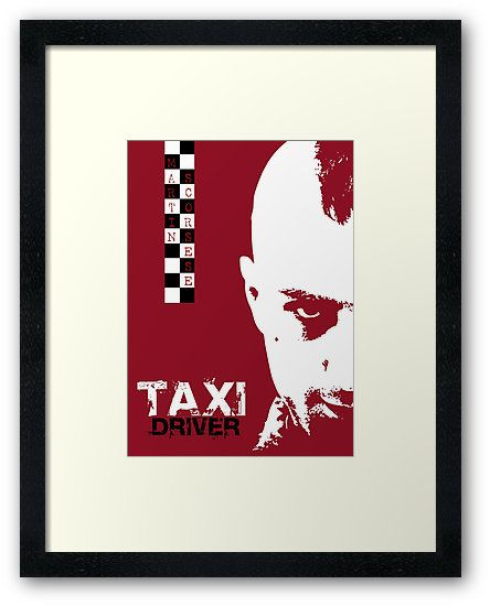 Taxi Driver Movie Poster Framed  #taxidriver #movie #poster #movieposter #scorsese #bestmovies #film #cinema #homecinema #cinephile