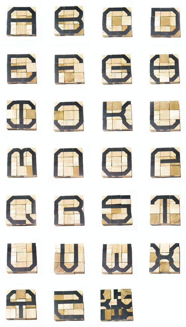 Cube Blocks Modular Type by Wenjing Chua, via Behance